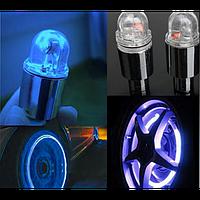 LED Насадка Подсветка на Ниппель Авто, Велосипеда, 2 шт