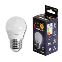 Светодиодная лампа Sirius G45 5W E27 3000K 3 года гарантии