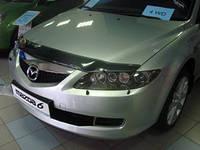 "Дефлектор капота Mazda 6 2002-2007 ""SIM"" темный"