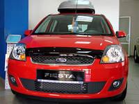 """Дефлектор капота Ford Fiesta 2002-2008 """"SIM"""" темный"""
