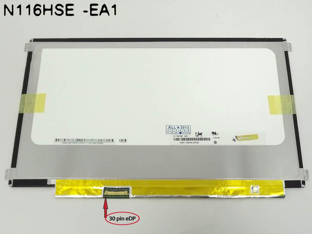 """Матрица 11.6"""" N116HSE-EA1 (1920*1080, 30pin(eDP), LED, SLIM(горизонтальные ушки), матовая, разъем слева внизу,"""