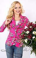 Молодежный женский пиджак приталенного силуэта 1018