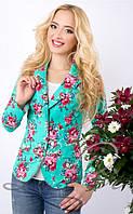 Коттоновый женский пиджак 1018