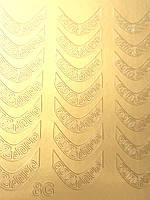 Металлизированные наклейки для ногтей Z8, фото 1