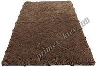 """Индийский коврик ручной работы для ванной """"Нетворк"""", цвет - коричневый"""