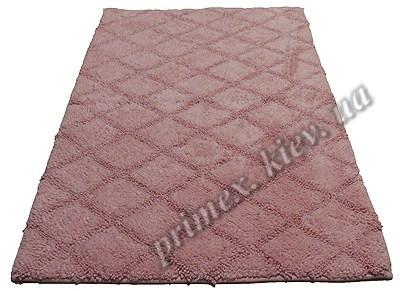 """Индийский коврик ручной работы для ванной """"Нетворк"""", цвет - розовый"""