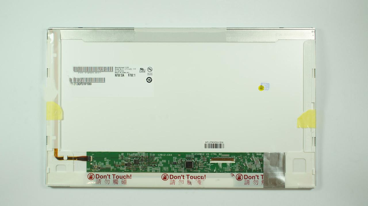 "Матрица 12.5"" B125XW02 V.0 (1366*768, 40pin, LED, NORMAL, матовая, разъем справа внизу) для ноутбука"