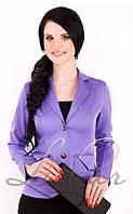 Стильный женский пиджак из мемори коттона  1017