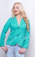 Классический женский однотонный пиджак 1017