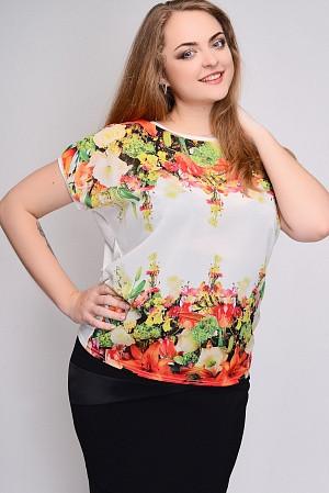 Женская батальная футболка 621А