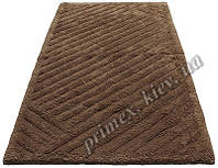 """Индийский коврик ручной работы для ванной """"Паркет"""", цвет - коричневый"""