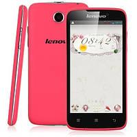 Оригинальный смартфон Lenovo A 396, 2 сим,4 дюйма,2х ядерный,розовый.