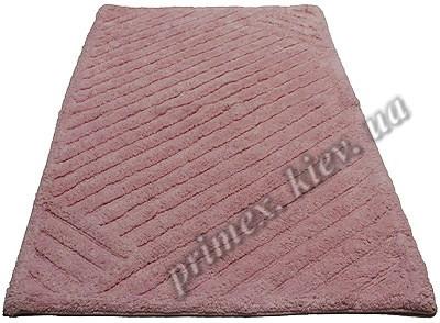 """Индийский коврик ручной работы для ванной """"Паркет"""", цвет - розовый"""