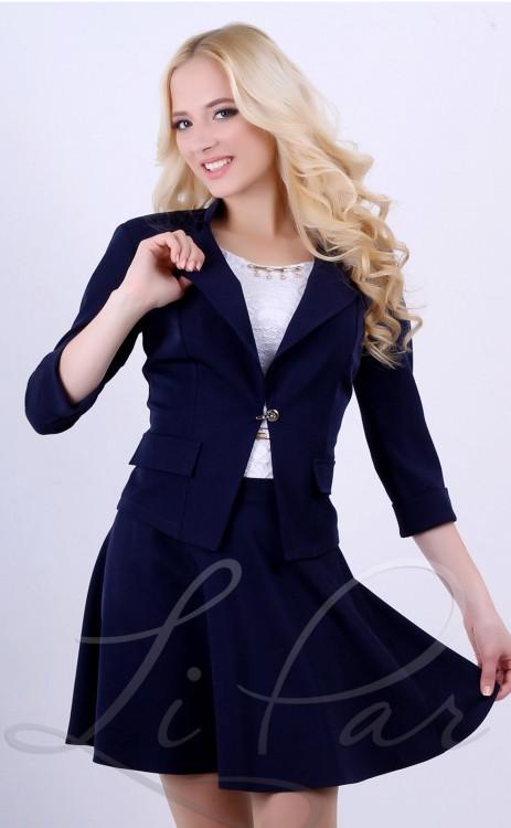 """Деловой женский пиджак т. синего цвета 1009/2 - Одежда ТМ """" Adeleys original """" (Barbie-shop.com.ua). Производитель. в Хмельницком"""
