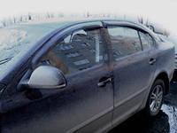 """Дефлекторы окон Skoda Octavia II (A-5) 2005-> """"SIM"""" темные (4шт/комп)"""