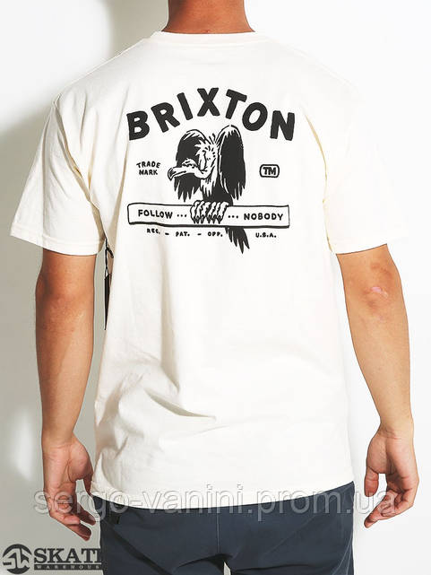 Футболка для мужиков с принтом Brixton Loner
