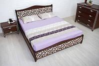 Двуспальная деревянная кровать из массива бука Монблан-прованс 1,8 Орех темный