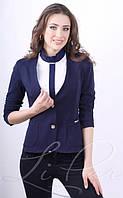 Деловой женский пиджак с удлиненной спинкой 1007