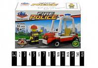 """Конструктор Brick  KY98202 """"Пожарная полиция"""", 62 детали"""