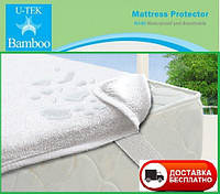 Непромокаемый наматрасник на резинках U-tek Bamboo 100х200