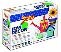 Акриловая краска Jovi Decor 6 цветов по 55мл + кисточка, Jovi (Испания)