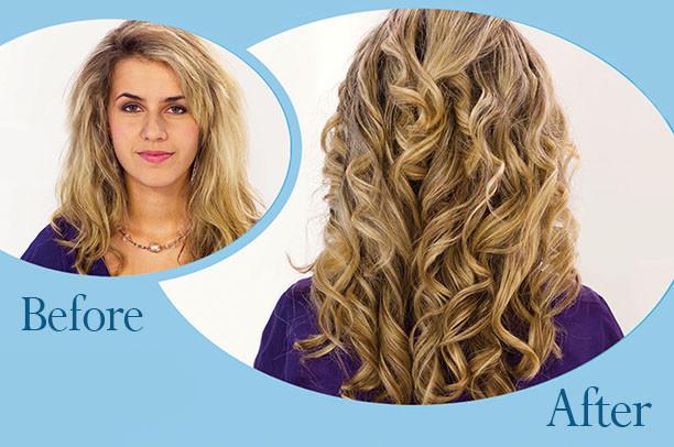 Волшебные спиральные бигуди Hair Wavz Хейр Вейвз для длинных волос 50 см 18 шт