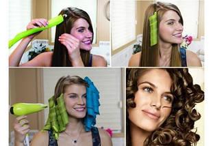 Волшебные спиральные бигуди Hair Wavz Хейр Вейвз для длинных волос 50 см 18 шт, фото 3