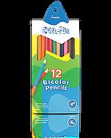 """Олівці кольорові двосторонні """"MARCO"""" №1110-12CB Colorite New (12 шт/24 кольори), фото 1"""