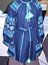 Платье вышитое детское с длинным рукавом, фото 4