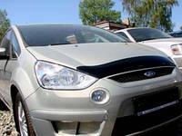 """Дефлектор капота Ford Focus S-Max 2006 и выше """"SIM"""" темный"""