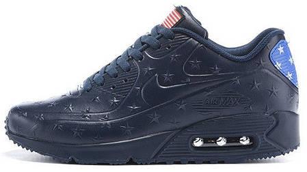 Мужские кроссовки Nike Air Max 90 VT Leather Blue купить в интернет ... fc19c0f4cce