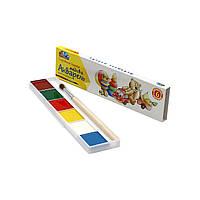 Акварель 6 цветов Гамма картонная коробка
