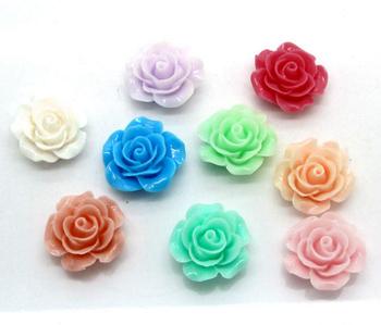 Полубусины (3 шт микс) розы Пластик 20 мм
