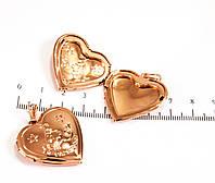 Медальон позолоченный форма сердца