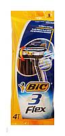 Набор бритв без сменных картриджей BIC Flex 3 4 шт