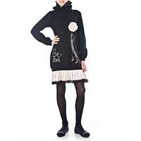Платье нарядное, со съемной горловиной,  с длинным рукавом, итальянский бренд подростковой одежды JBE.