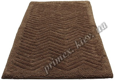 """Индийский коврик ручной работы для ванной """"Волна"""", цвет - коричневый"""
