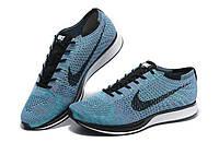Летние мужские кроссовки Nike Flyknit Racer blue
