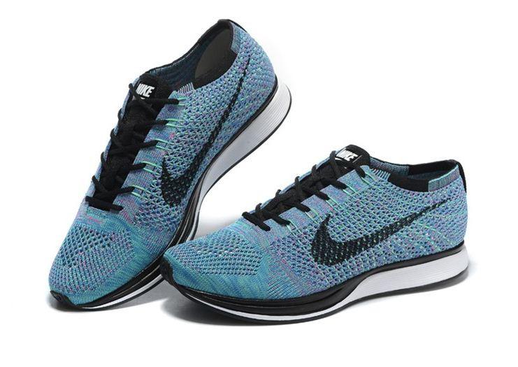2af80013e5d4 Летние мужские кроссовки Nike Flyknit Racer blue  купить в ...