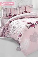 Постельные наборы Eponj Home евро Etnik Loveme Pudra