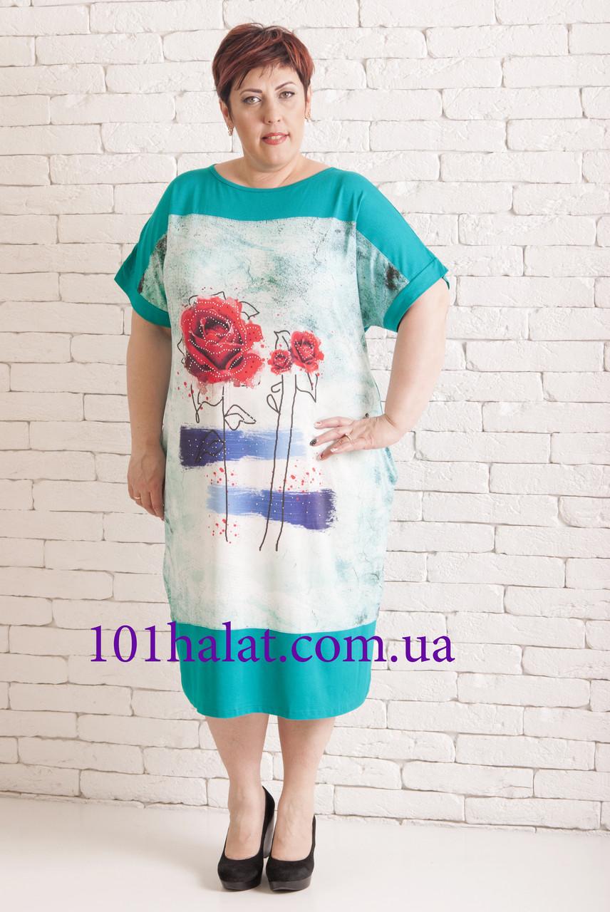 Женское платье с розами