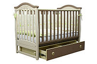 Детская кровать (Верес) ЛД 3 маятник с ящиком(капучино)