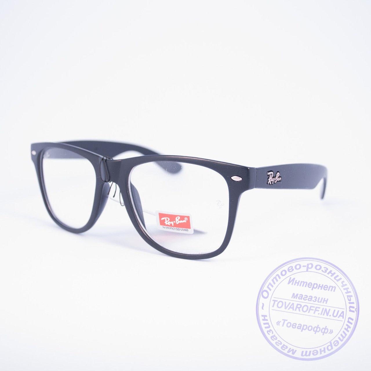 Имиджевые очки унисекс Ray Ban Wayfarer - Черные - 9318