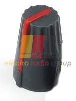 Ручка AG 4 для потенциометра черная с красной вставкой