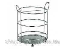 Подставка для столовых приборов хром 13х15см