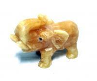 Слон большой оникс натуральный камень