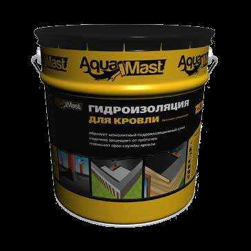 Кровельная мастика AquaMast «Кровля», 18 кг