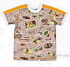 Хлопковая футболка для мальчика размер 92,110