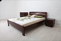 Односпальная кровать деревянная без изножья из массива бука  Каролина - 0,9