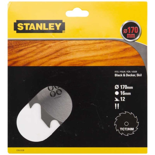 Пильный диск Stanley, 170 мм